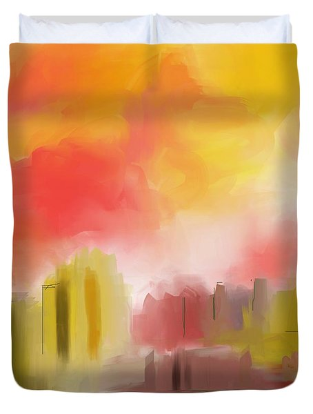 Cityscape Duvet Cover by David Lane