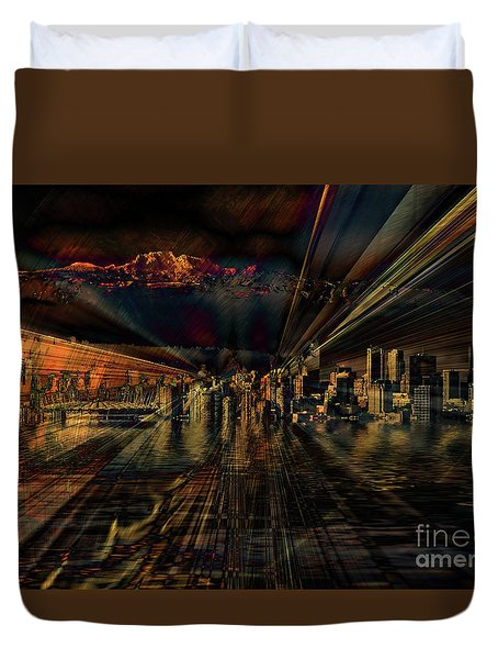 Cityscape Duvet Cover by Elaine Hunter