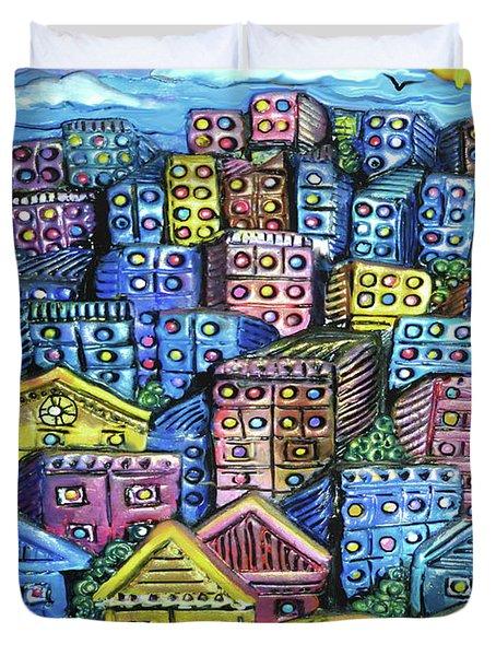 Cityscape Sculpture Duvet Cover