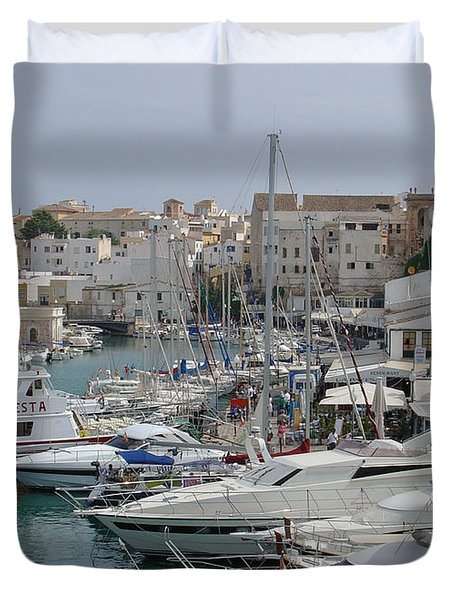 Ciutadella Marina Duvet Cover by Rod Johnson