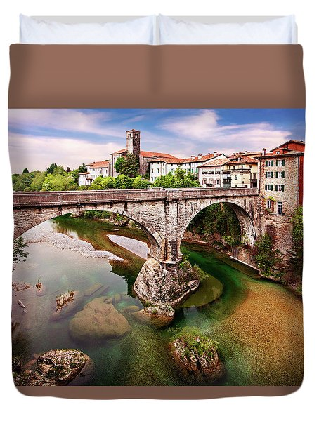Duvet Cover featuring the photograph Cividale Del Friuli - Italy by Barry O Carroll