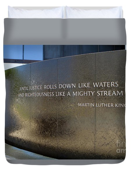 Duvet Cover featuring the photograph Civil Rights Memorial by Steven Frame
