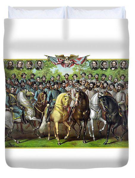 Civil War Generals And Statesman Duvet Cover by War Is Hell Store