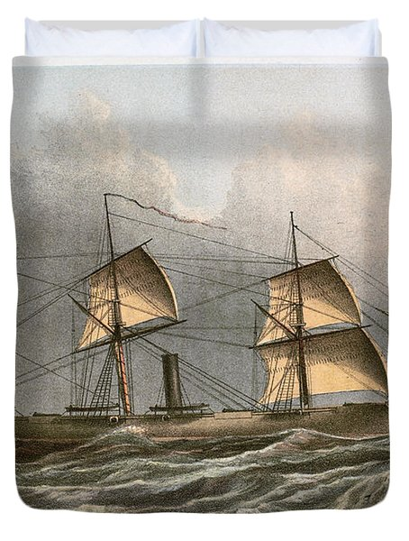 Civil War: Uss Kearsarge Duvet Cover