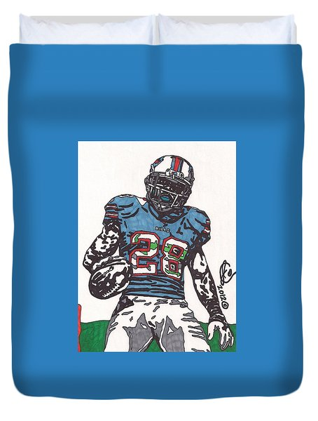 Cj Spiller 1 Duvet Cover by Jeremiah Colley