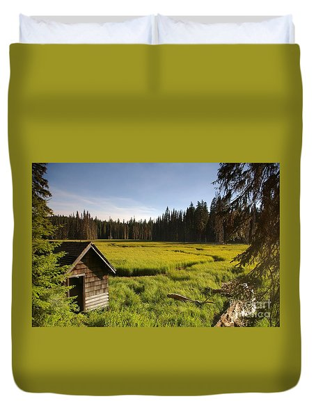 Clackamas Meadow Pump House- 2 Duvet Cover