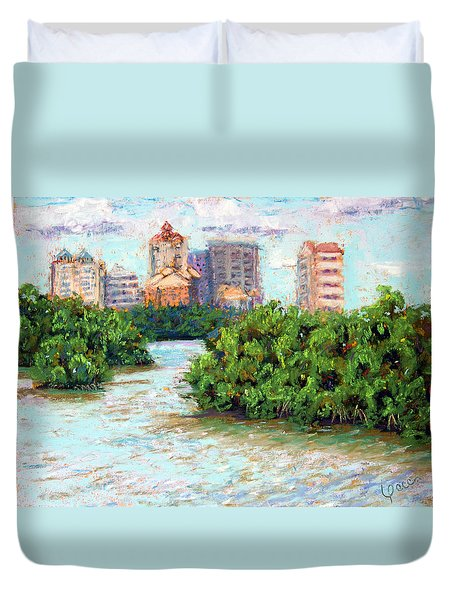 Clam Pass I Duvet Cover by Laurie Paci