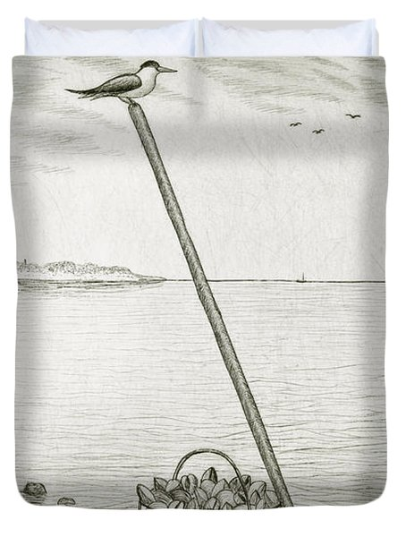 Clamming Duvet Cover by Charles Harden
