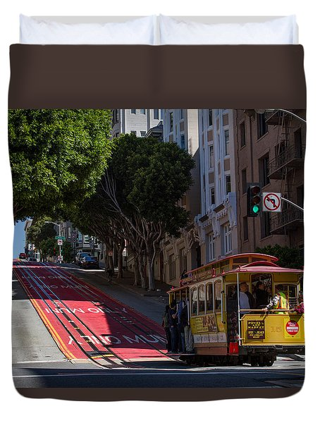 Clang Clang Goes The Cable Car Duvet Cover