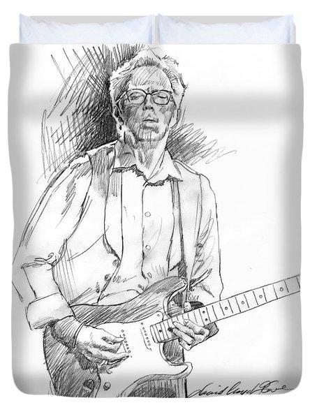 Clapton Riff Duvet Cover by David Lloyd Glover