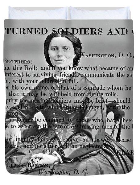 Clara Barton Duvet Cover