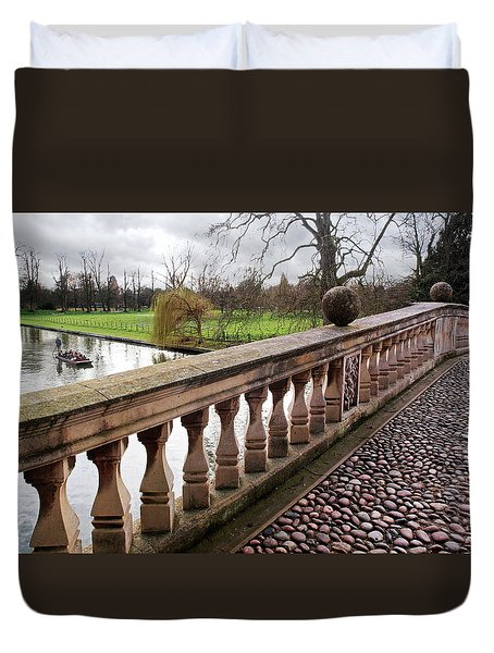 Duvet Cover featuring the photograph Clare College Bridge Cambridge by Gill Billington