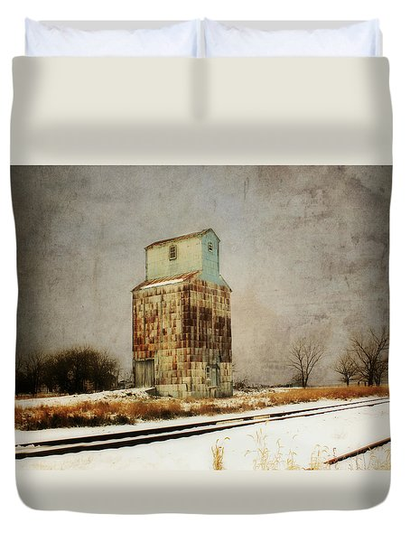 Duvet Cover featuring the photograph Clare Elevator by Julie Hamilton