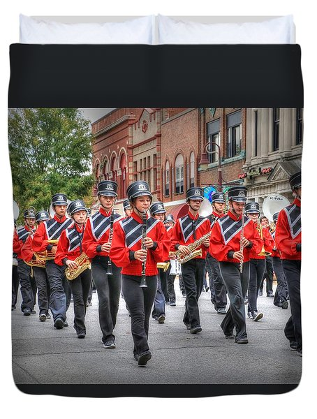 Clarinda Iowa Marching Band Duvet Cover