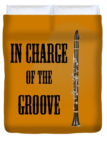 Clarinet In Charge Of The Groove 5525.02 Duvet Cover