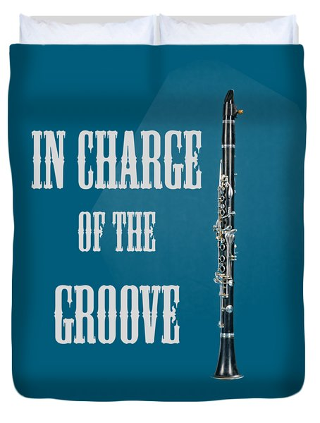 Clarinet In Charge Of The Groove 5526.02 Duvet Cover