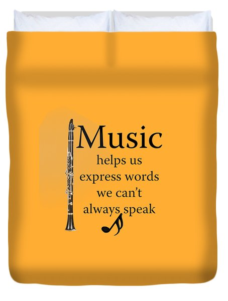 Clarinet Music Expresses Words Duvet Cover by M K  Miller
