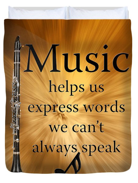 Clarinets Expresses Words Duvet Cover