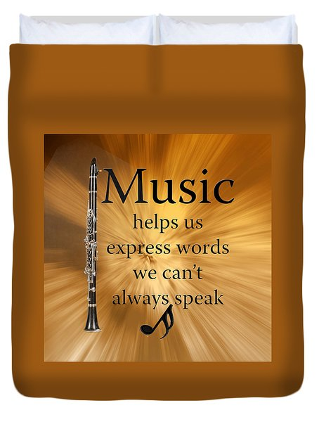 Clarinets Expresses Words Duvet Cover by M K  Miller