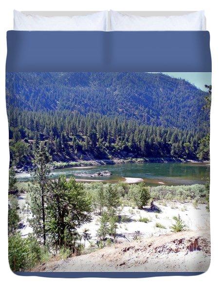 Clark Fork River Missoula Montana Duvet Cover
