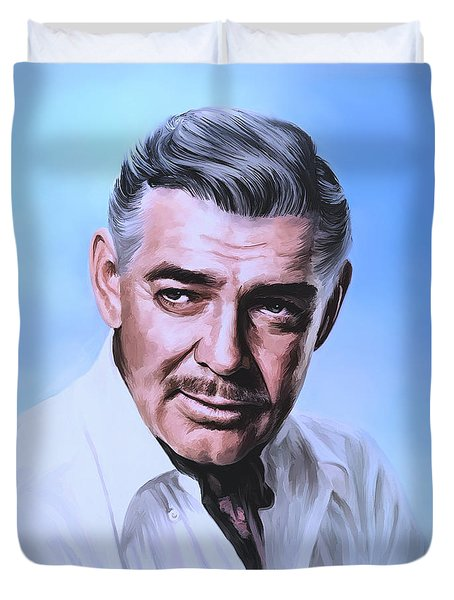 Clark Gable 2 Duvet Cover