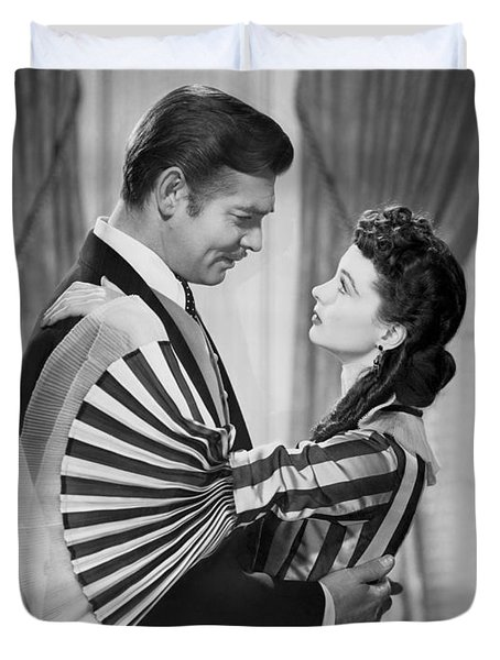 Clark Gable And Vivien Leigh Duvet Cover