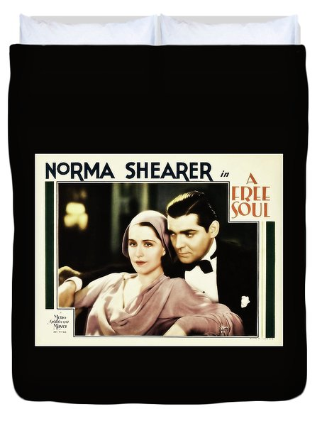Clark Gable Movie Idol In A Free Soul Duvet Cover