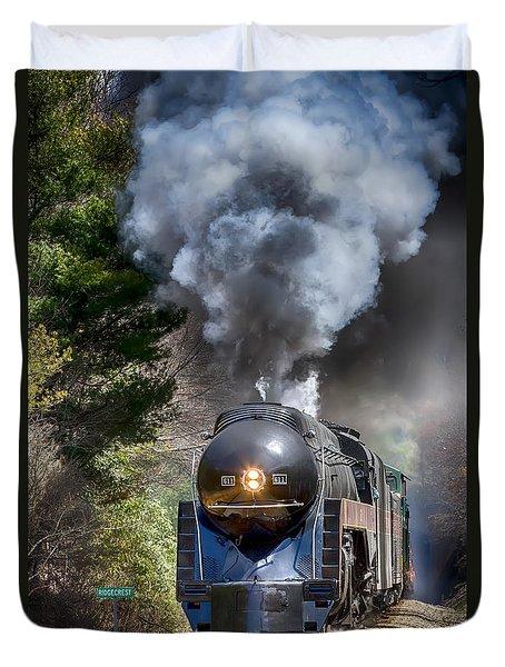 Class J 611 Steam Engine At Ridgecrest Duvet Cover