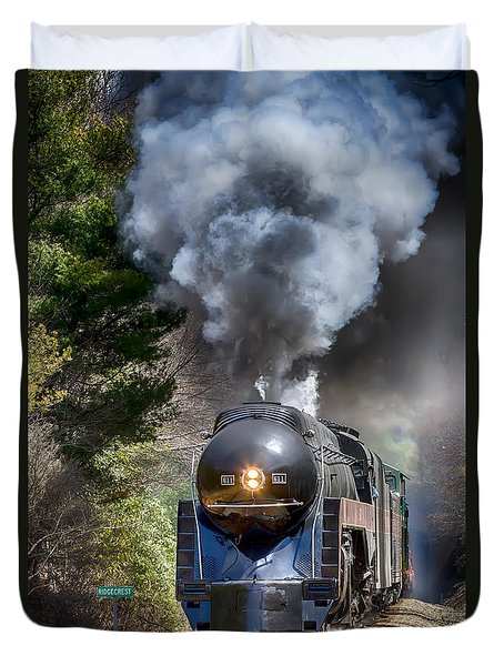 Class J 611 Steam Engine At Ridgecrest Duvet Cover