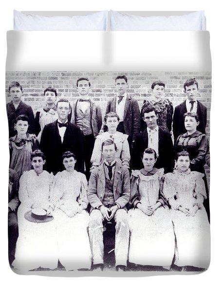 Class Of 1894 Bw Duvet Cover