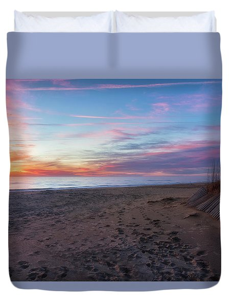 Duvet Cover featuring the photograph Classic Beach Scene by Russell Pugh