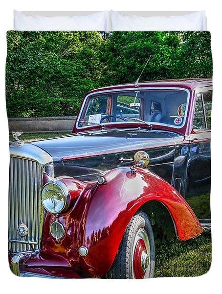 Classic Bentley In Red Duvet Cover