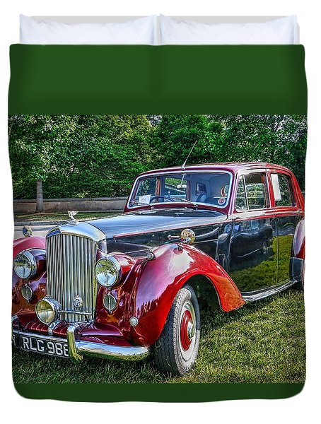 Classic Bentley In Red Duvet Cover