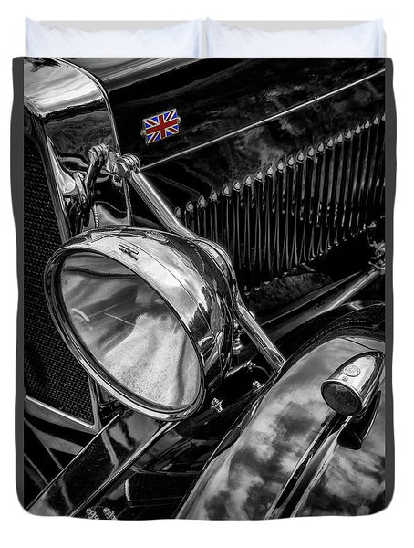 Duvet Cover featuring the photograph Classic Britsh Mg by Adrian Evans