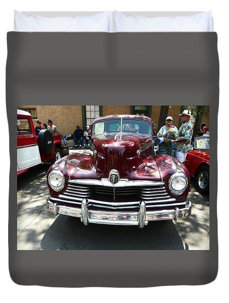 Classic Burgundy Car Duvet Cover