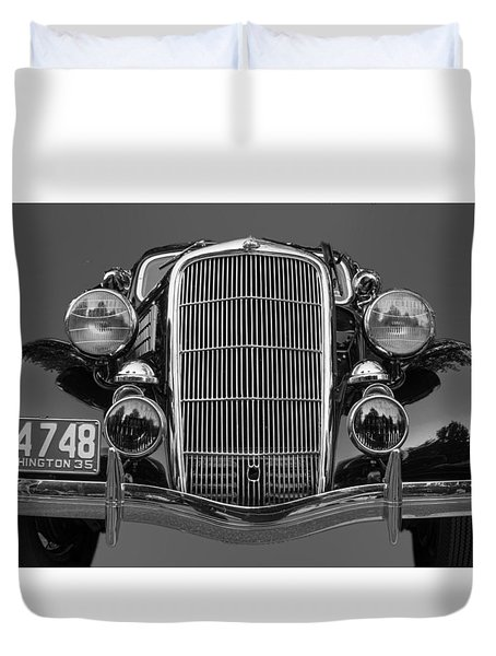 Classic Car 2 Duvet Cover by Cathy Anderson