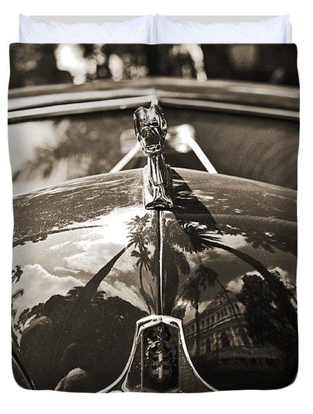 Classic Car Detail - Dodge 1948 Duvet Cover