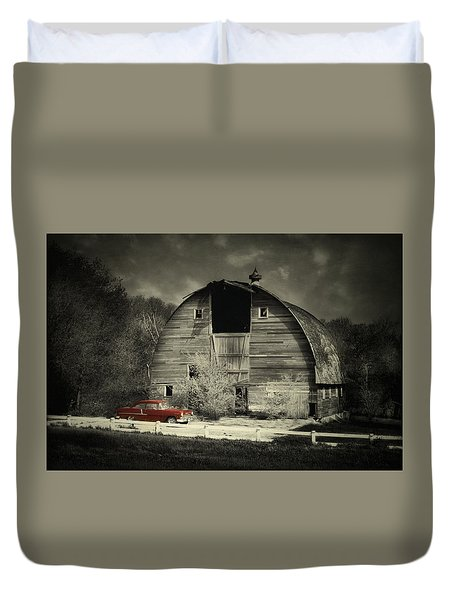 Duvet Cover featuring the photograph Classic Chevrolet  by Julie Hamilton