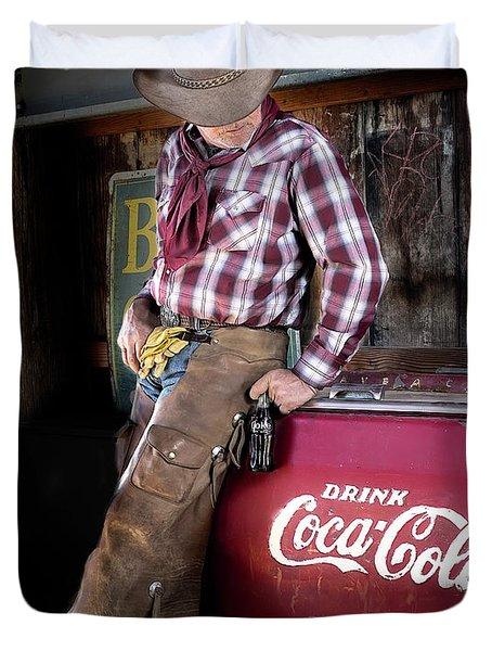 Classic Coca-cola Cowboy Duvet Cover