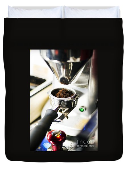 Classic Coffee Bean Grinder Detail Duvet Cover