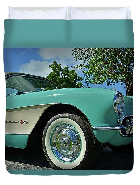 Classic Corvette Duvet Cover