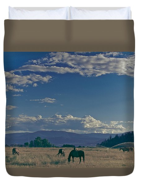 Classic Country Scene Duvet Cover