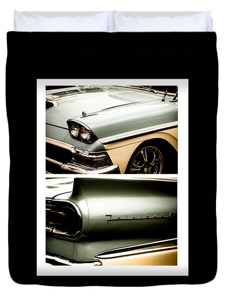 Duvet Cover featuring the photograph Classic Duo 2 by Ryan Weddle