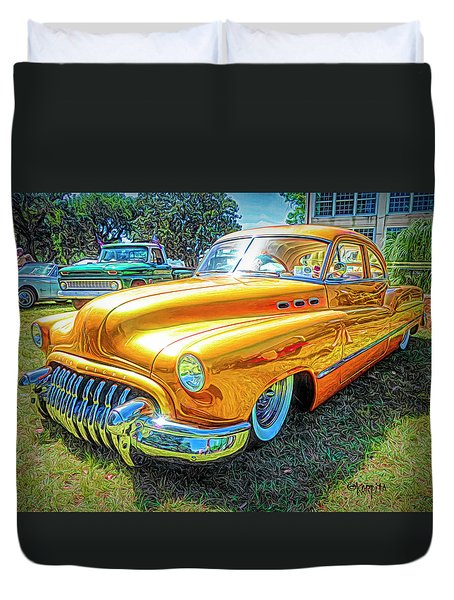 Classic Fifties Buick - Cruising The Coast Duvet Cover