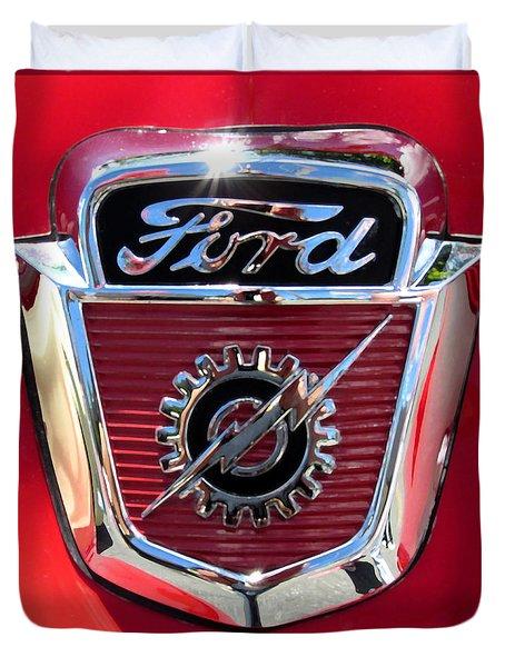 Classic Ford Logo Duvet Cover