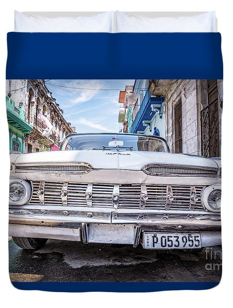 Duvet Cover featuring the photograph Classic Havana by Delphimages Photo Creations