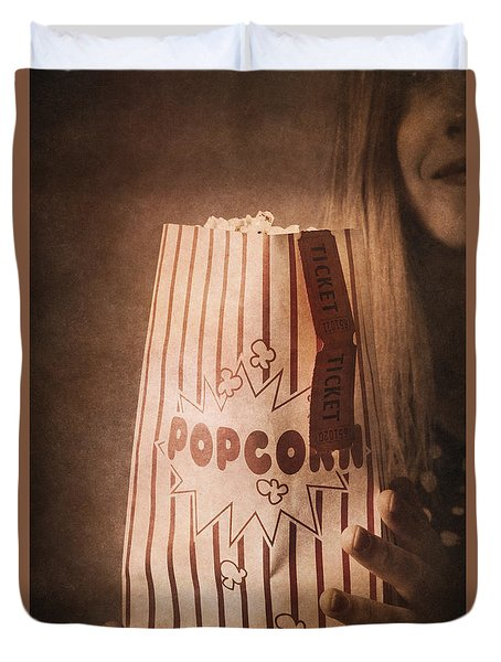 Duvet Cover featuring the photograph Classic Hollywood Flicks by Jorgo Photography - Wall Art Gallery