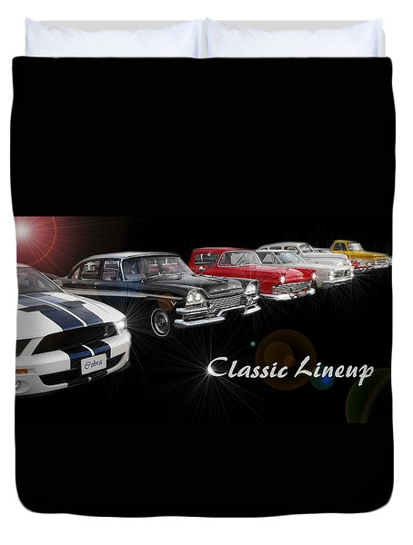 Classic Lineup Duvet Cover by David and Lynn Keller