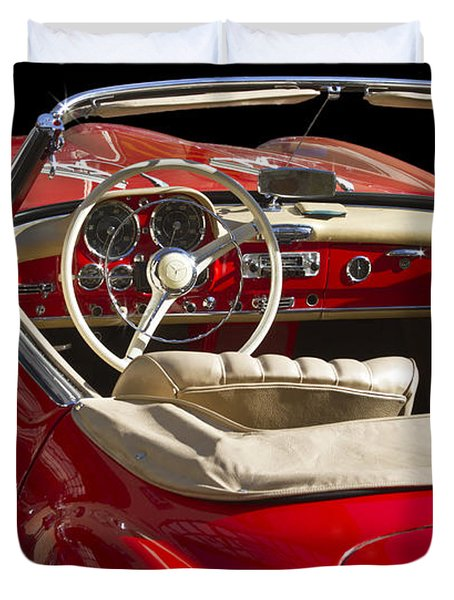 Classic Mercedes Benz 190 Sl 1960 Duvet Cover by Heiko Koehrer-Wagner