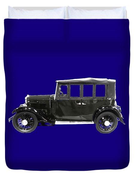 Classic Motor Black Art Duvet Cover